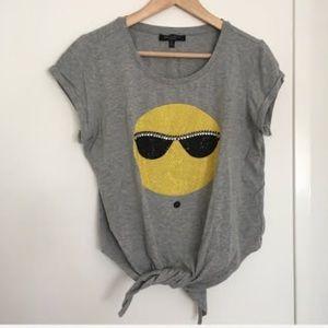 T-shirt crop - Romeo+Juliette Couture - L - grey